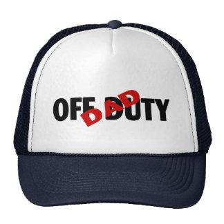 Dad Off Duty (Blk) Trucker Hat