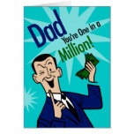 Dad One In Million Greeting Cards