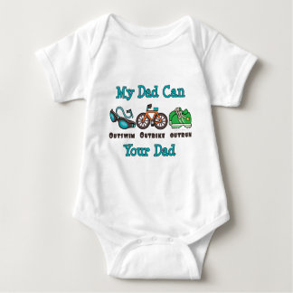 Dad Outswim Outbike Outrun Triathlon Baby Bodysuit