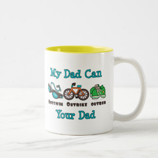 Dad Outswim Outbike Outrun Triathlon Mug