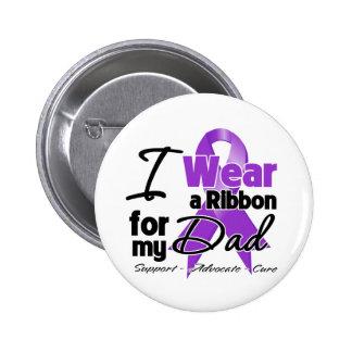 Dad - Pancreatic Cancer Ribbon 6 Cm Round Badge
