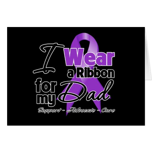 Dad - Pancreatic Cancer Ribbon Greeting Cards