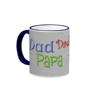 Dad Papa Pop Father Ringer Mug