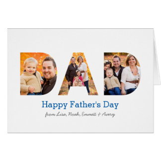 Dad Photo Collage Greeting Card