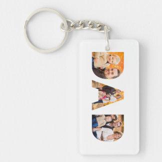 Dad Photo Collage Key Ring