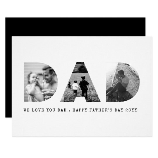 Dad Photo Father's Day Card