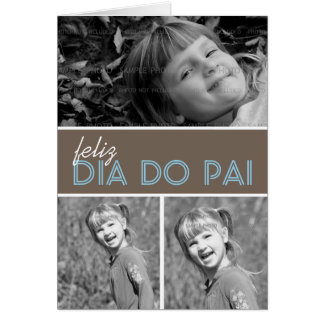 Dad Photo Greeting Card Template Portuguese