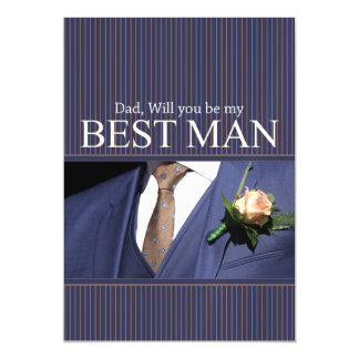 Dad Please be best man - invitation