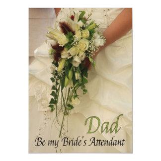 Dad  Please be bride's attendant - invitation Magnetic Invitations