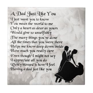 Dad Poem  -  Ballroom Dancers Tile