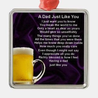 Dad Poem  -  Beer Design Christmas Ornament