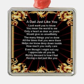 Dad Poem - Black Design Christmas Ornament
