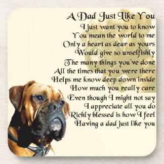 Dad Poem - Boxer Dog Design Coaster