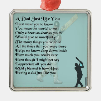 Dad Poem - Cricket design Christmas Ornament