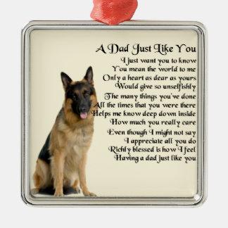 Dad Poem - German Shepherd Dog Christmas Ornament