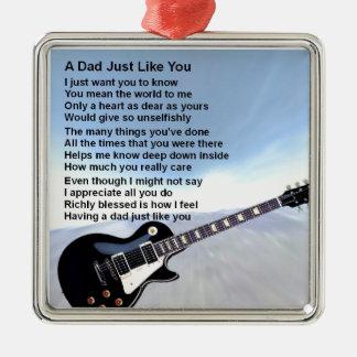 Dad Poem - Guitar Design Christmas Ornament