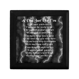 Dad Poem  -  Lightning Marble Design Gift Box