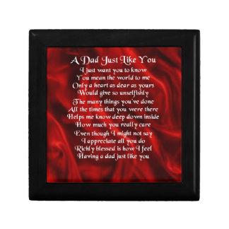 Dad Poem - Red Design Gift Box
