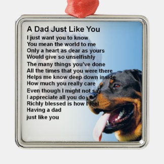 Dad Poem - Rottweiler Design Christmas Ornament