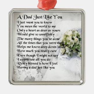Dad poem  -  wedding design christmas ornament