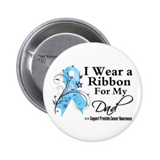 Dad Prostate Cancer Ribbon 6 Cm Round Badge