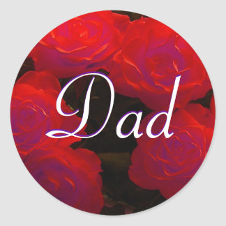 Dad Red Roses Sticker