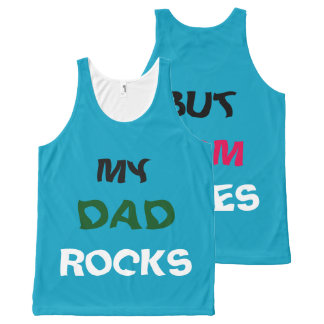dad rocks mom rules All-Over print tank top