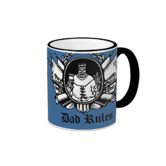 Dad Rules! Ringer Coffee Mug