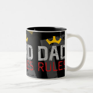 DAD RULES (Today's Best Award) Two-Tone Coffee Mug