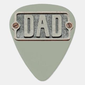 DAD rustic metal plate design pick