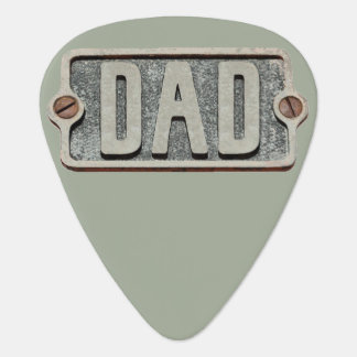 DAD rustic metal plate design pick Plectrum