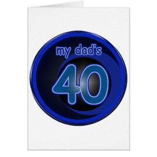 Dad s 40th Birthday Cards