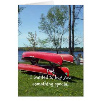 Dad s Birthday Canoes Greeting Card