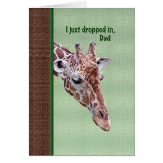 Dad s Birthday Card with Giraffe