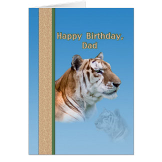 Dad s Birthday Card with Tiger