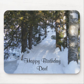 Dad s Birthday-snowmobile trail Mouse Pads