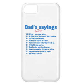 Dad s favorite sayings iPhone 5C cover