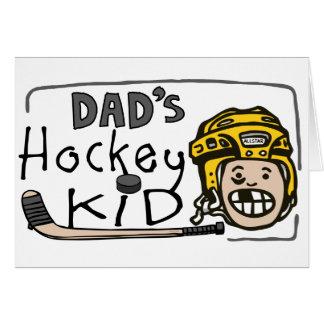 Dad s Hockey Kid Greeting Cards