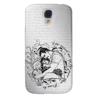 Dad s little girl line drawing text design galaxy s4 cases