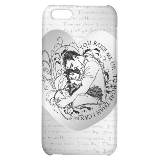 Dad s little girl line drawing text design case for iPhone 5C