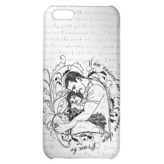 Dad s little girl line drawing text design iPhone 5C cases