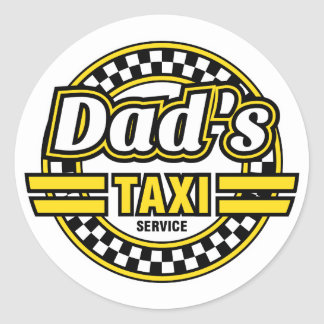Dad s Taxi Service - Funny Stickers for Dad s Car