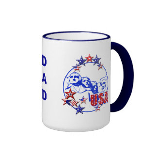Dad s USA Mount Rushmore Coffee Mug