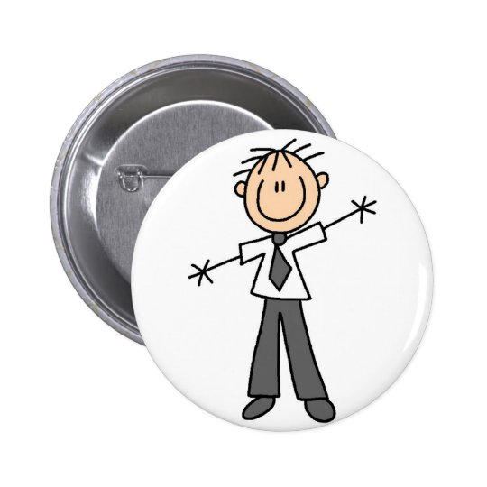 Dad Stick Figure Button