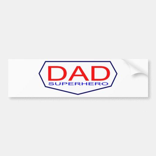 Dad Superhero Bumper Sticker