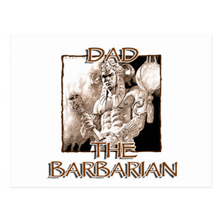 Dad the Barbarian Postcard