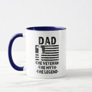 Dad the Veteran the Myth the Legend Military mug