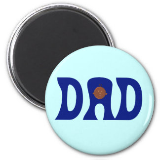 Dad to African Baby 6 Cm Round Magnet