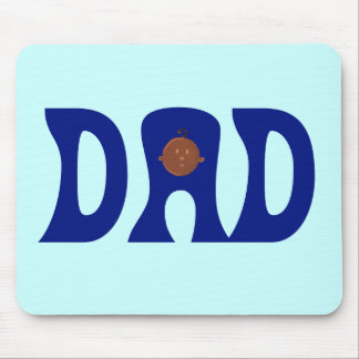 Dad to African Baby Mousepad