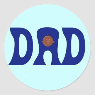Dad to African Baby Round Stickers